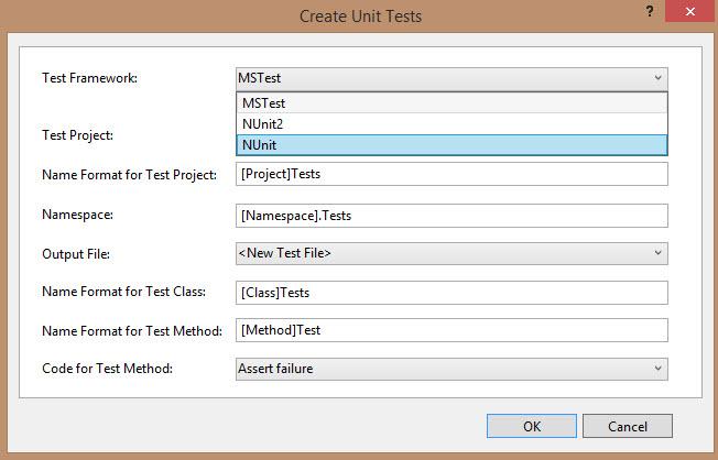 Test Generator NUnit extension - Visual Studio Marketplace